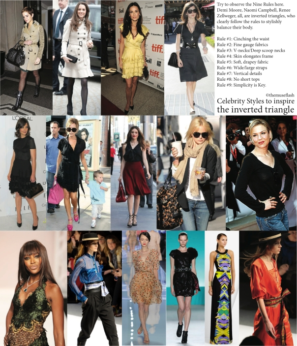 Celebrity styles to inspire the Inverted Triangle Body Type