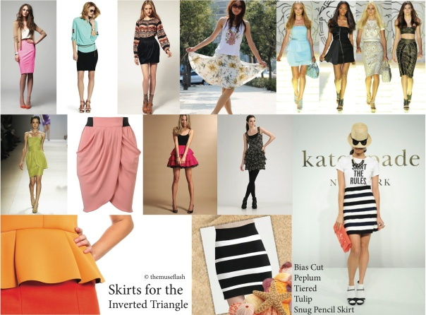 Skirt Styles for the Inverted Triangle