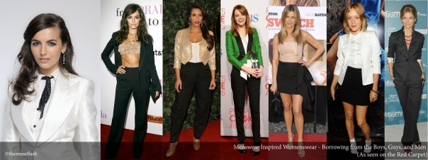 Borrowing from the Boys, Guys, and Men - As Seen on the Red Carpet