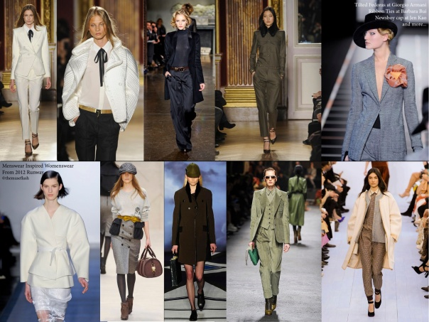 Menswear Inspired Womenswear from 2012 Runway