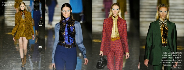 Take inspiration from Miu Miu Fall 2012 - Menswear Inspired Womenswear